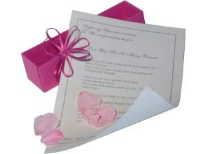 Personalised Poem Scroll